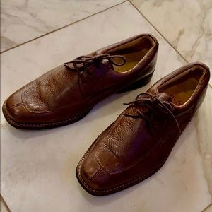 TASSO ELBA Men Brown Sheepskin Leather Brown Shoes